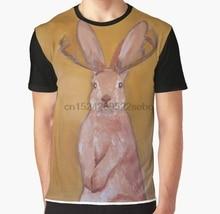 f2ebfd7c All Over Print 3D Women T Shirt Men Funny tshirt Jackalope Handpainted  Graphic T-Shirt