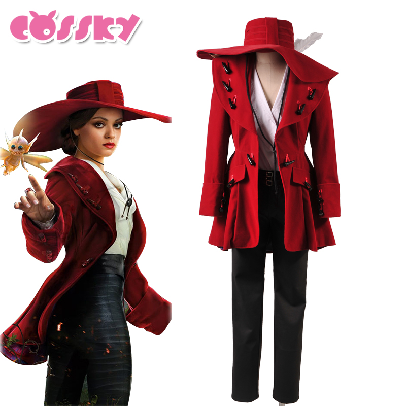 Oz The Great and Powerful Witch Theodora Cosplay Costume Women Party Suit Red Jacket Full Set Halloween Christmas Coat