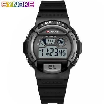 PANARS Men's Digital Watch Luminous Sport Men Wrist Watch Clock 5 Bar Waterproof Black Color Chronograph Men Watch LED Display