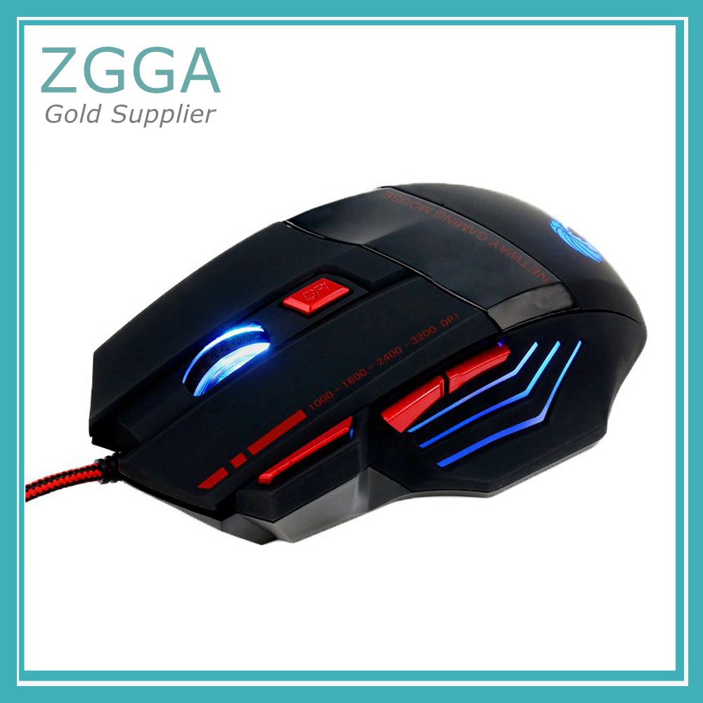Optical Wired Mice Backlit USB Gaming Mouse For Windows 2000/ XP/win7/ win8/Vista 32bit LED 7 Buttons DPI 1000 /1600/2400/3200