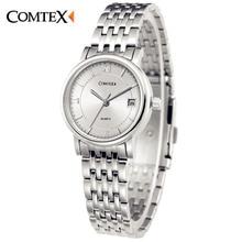 COMTEX Mujeres Pareja Relojes Calendario Clásico Reloj de Moda de lujo Señora reloj Casual Analógico de Cuarzo fecha Reloj para el amante de la muchacha