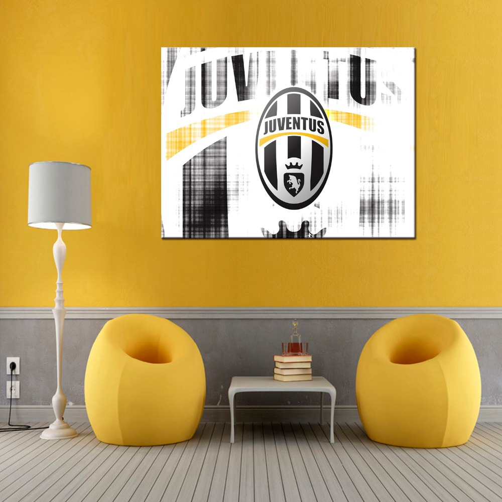 1 panel Juventus Football Funs Modern Home Wall Decor Painting ...