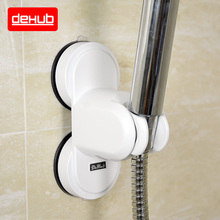 Dehub Bathroom Vacuum Holder Wall Suction Cup Mount Adjustable Shower Head In White Accessories