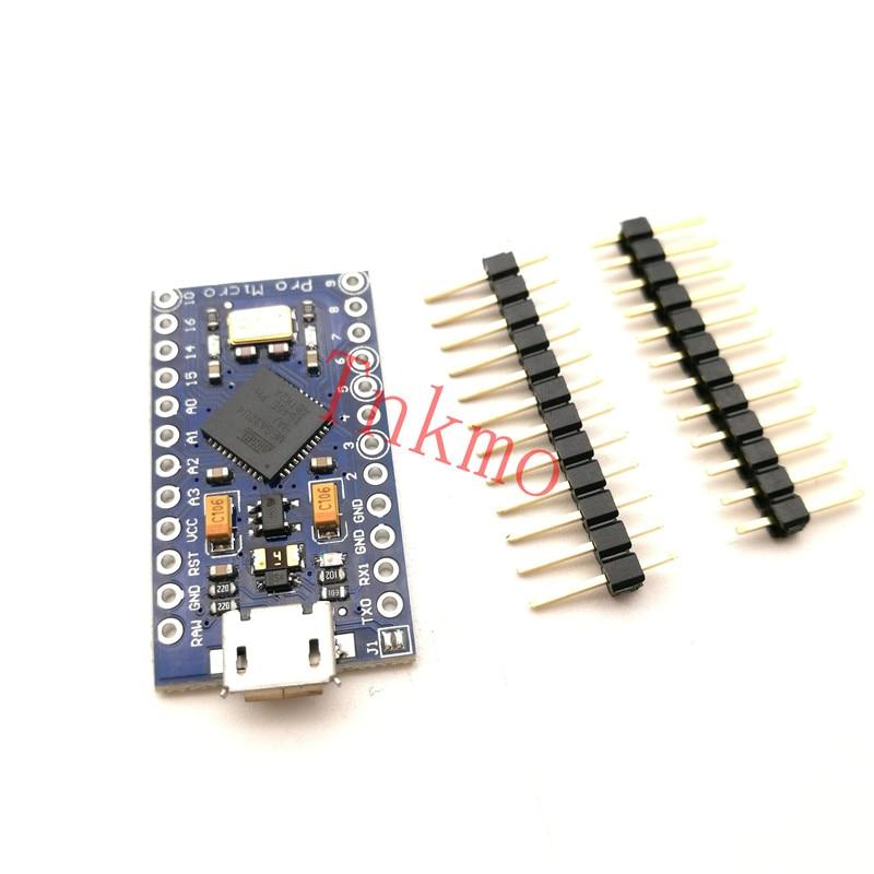 Pro Micro ATmega32U4 5V 16MHZ for Arduino DIY DIY Atmega 32U4 ATMEGA32U4 Controller Board Panel Modul Compatible Nano Electronic