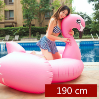 190cm Giant Flamingo Inflatable Pool Float 2018 Newest Ride On Swimming Ring Adult Children Air Mattress Chair Lounger Party Toy