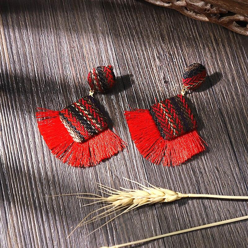 New Arrival Fashion Tassel Earrings for Women 19 Statement Earrings Striped Long Fringe Earrings Girl Birthday Jewelry Gift 6
