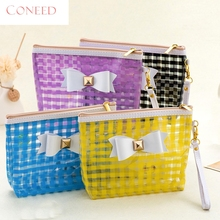 Fashion Cosmetic Bags Charming Nice CONEED Bowknot Waterproof Cosmetic Bag Storage Bag May22 Y35
