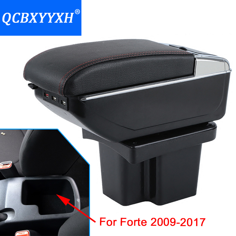 For KIA Forte 2009-2017 ABS with PU Armrest Box Central Store Content Box Cup Holder Interior Car-styling Products Accessory флизелиновые обои fresco av secrets 5037 2