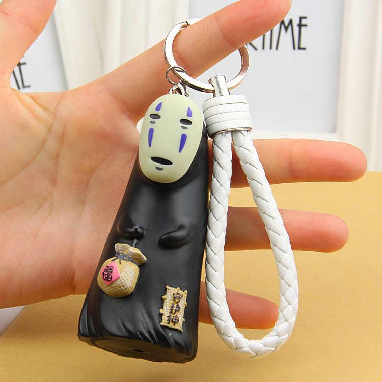Saco Sorte de a viagem de Chihiro No Face Homem Modelo Boneca Dos Desenhos Animados Figura de Ação de Animação Para A Corda Chaveiro Mascote KeyChain Titular Purse saco