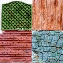 Забор кирпичная древесина Cobble каменная стена линия зерна формы силиконовое впечатление текстура коврик из сахара помадка плесень