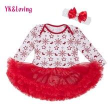 Nouveau-né Filles Body Robe 2017 Coton 0-2 Ans Bébé Fille Vêtements De Noël Body Nouveau Printemps Hiver Enfant En Bas Âge Tutu tenues