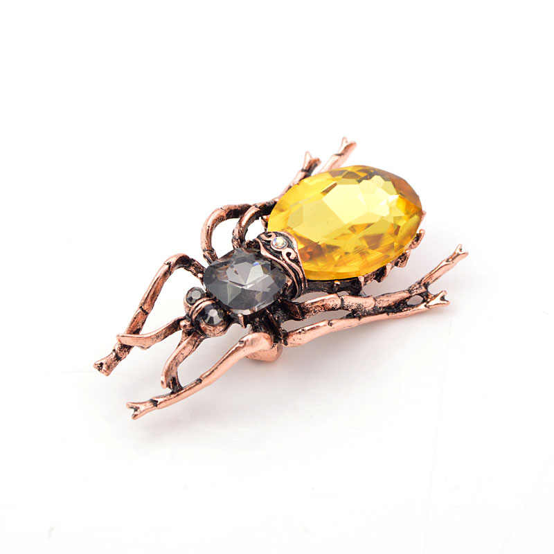 Cindy Xiang 3 Warna Tersedia Kristal Besar Beetle Bros untuk Wanita Fashion Vintage Bug Bros Pin Serangga Perhiasan Hadiah Yang Bagus