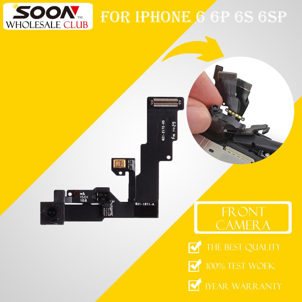 BIENTÔT D'origine Avant Caméra Lentille Capteur Flexible Flex Câble Pièces De Rechange De Remplacement pour iPhone 6 6 Plus 6 s Plus livraison Gratuite