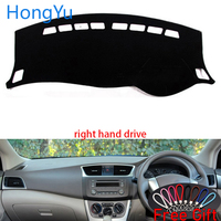 Dashboard Cover Dash Mat Board Pad Carpet Dashmat Interior Mats for Nissan Sentra nismo Sylphy 2012 2019 Right Hand Accessories