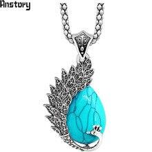 Павлин кулон Цепочки и ожерелья для Для женщин Античная Посеребренная животных Тема Винтаж модные Цепочки и ожерелья