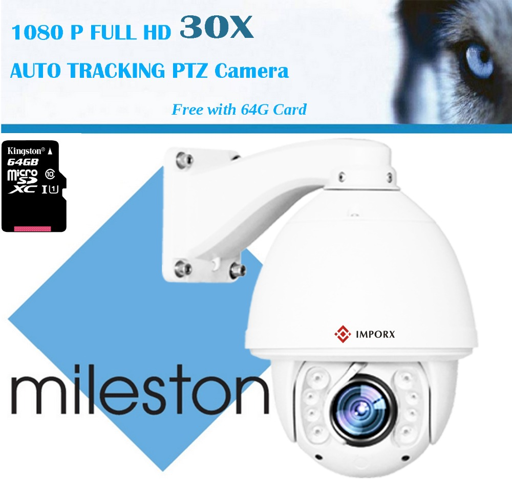 Hot sell PTZ IP Camera HD 1080P high speed Camera support  working Blue iris  and  Memory card