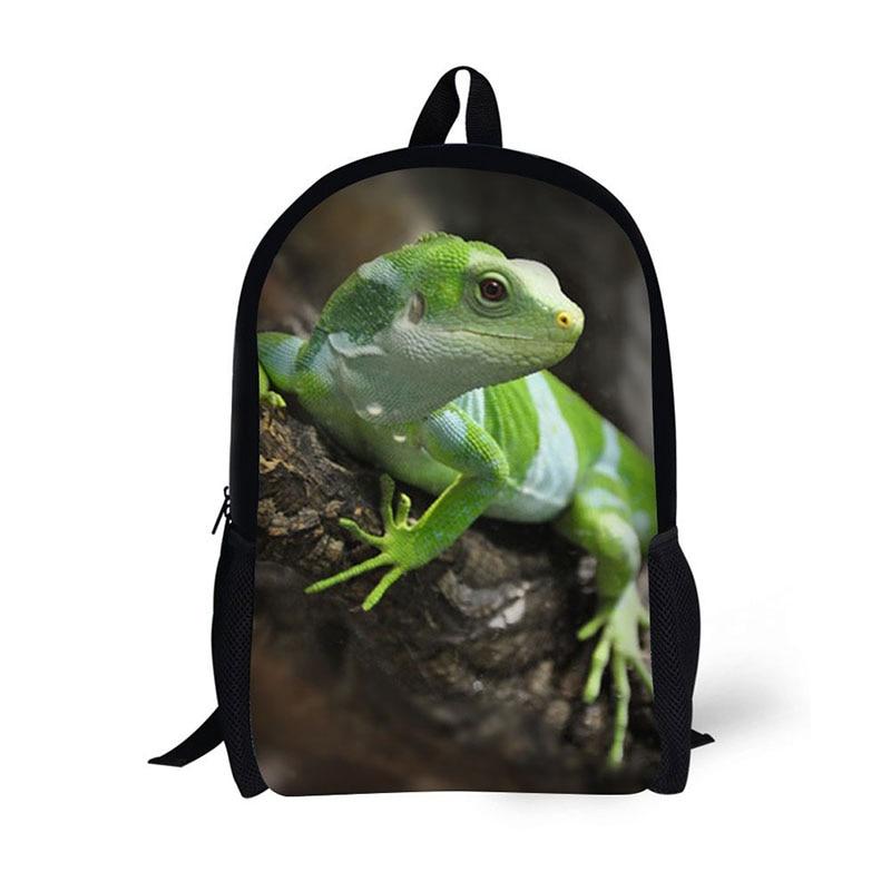 AnyFocus black Backpack  Animal lizard Pattern for Teenagers Cool School Bags for Boys Mochilas Rucksack 3D Printed Bookbags 3 pcs set school bags for teenagers girl boy backpack women shoulder travel bags rucksack knapsack set de 3 mochilas escolares