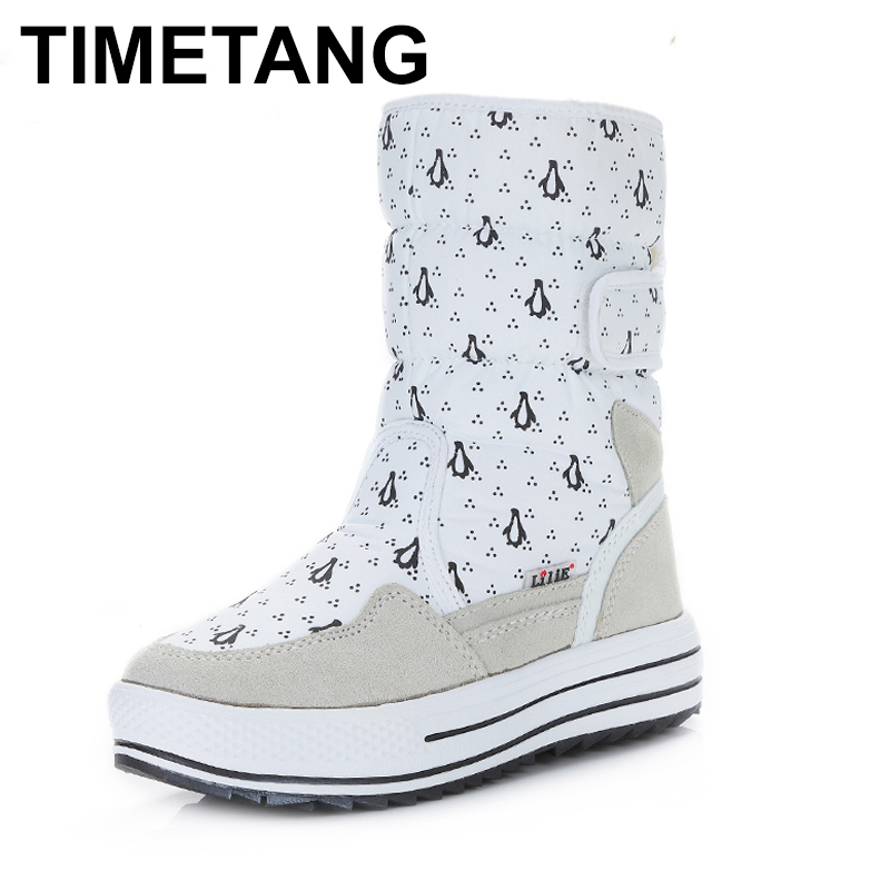 Office & School Supplies Methodical Timetang Winter Plush Warm Snow Boots Non-slip Mid-calf Boots For Women Thick Fur Cotton Prints Shoes Outdoor Waterproof Boots Convenience Goods