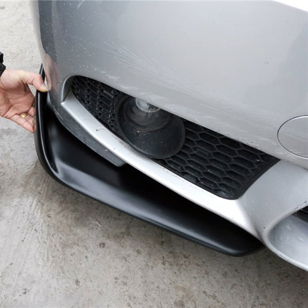 350Z 370Z GTR Universal Matt Black FRP Front Bumper Lip Splitter Apron for Nissan Mitsubishi Infiniti universal matt black frp car styling front bumper lip splitter apron for bmw audi volkswagen toyota nissan mitsubishi