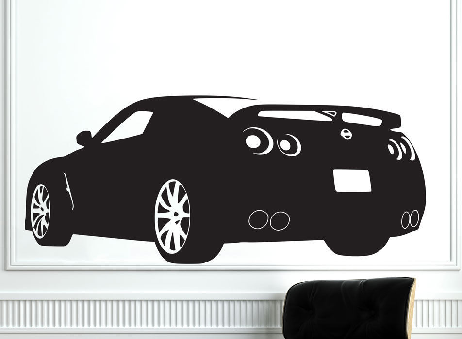 Carved Race Sports Car Nissan GTR Wall Decal Removable Art Home Decor Wall  Sticker Vinyl Mural Stickers ES 34 In Wall Stickers From Home U0026 Garden On  ...