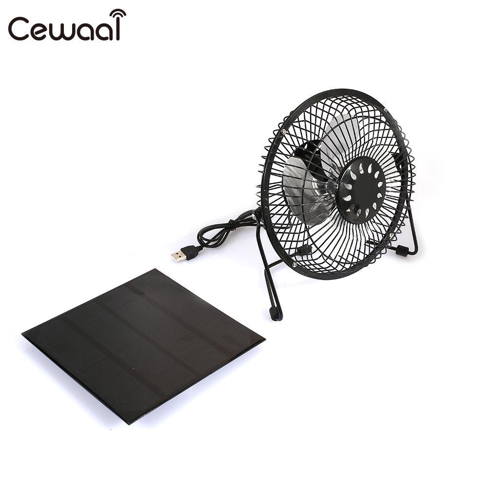 Solar Panel with Fan 6inch Fan Moblie Phone Portable USB Fan Player 4.5W 6V Solar Charger Panel Waterproof Travel