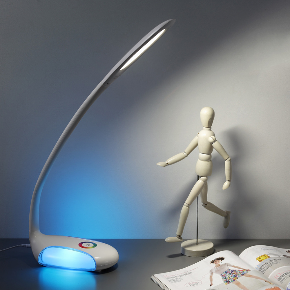 ФОТО creative attractive Desk Table Lamp Eye Care LED Colorful Light with 3 Brightness Touch Dimmer