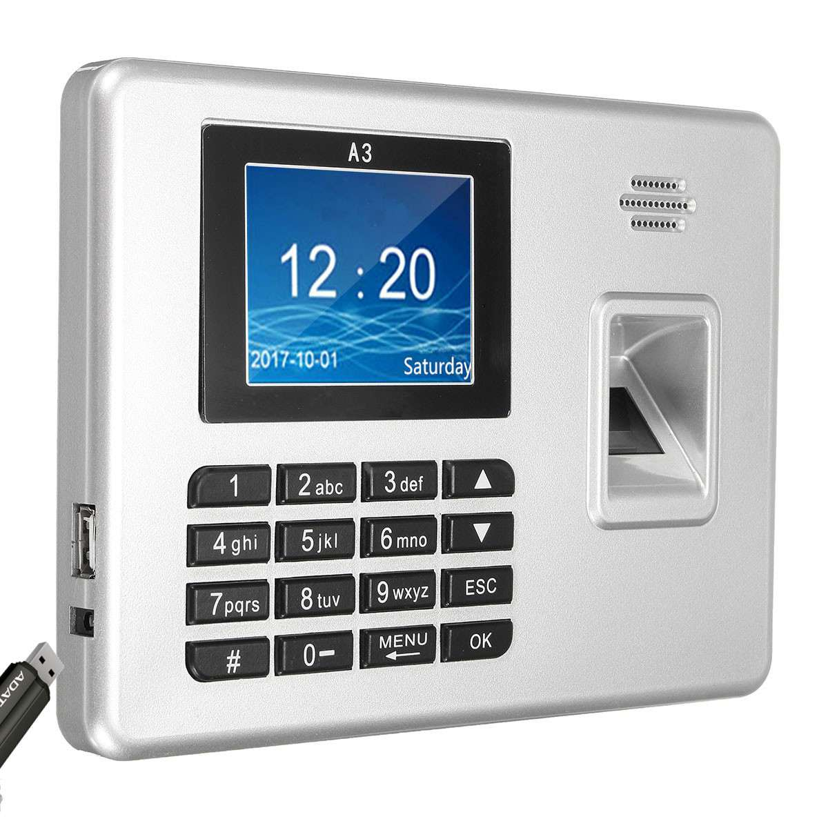 Biométrique d'empreintes digitales temps présence horloge enregistreur dispositif de reconnaissance des employés Machine électronique empreinte digitale Usb capteur