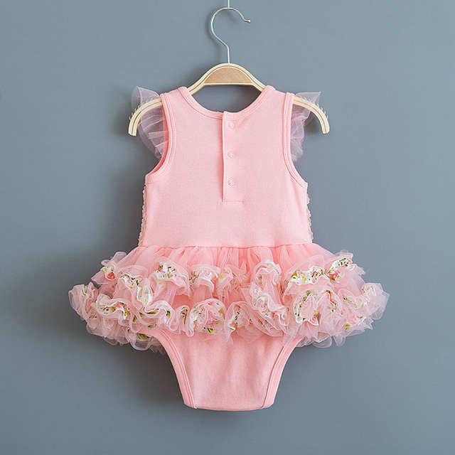 bcf02b19f placeholder Verão Bebê Recém-nascido Meninas Vestido de Flores de Renda Sem  Mangas Vestidos para Prom