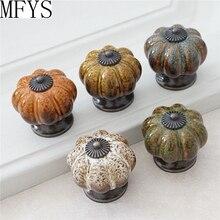 New Ceramic Knobs Pumpkin  Dresser Knob Drawer / Cabinet Kitchen Door Furniture Hardware Antique Bronze