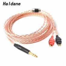 1 piece oyaide phono cartridge head shell lead wire for turntable single crystal copper hsr 102 made in japan free shipping Free Shipping Haldane  1/4 6.35 mm 8 Croes Single Crystal Copper Headphone Upgrade Cable for HD600 HD650 HD525 545 565 580