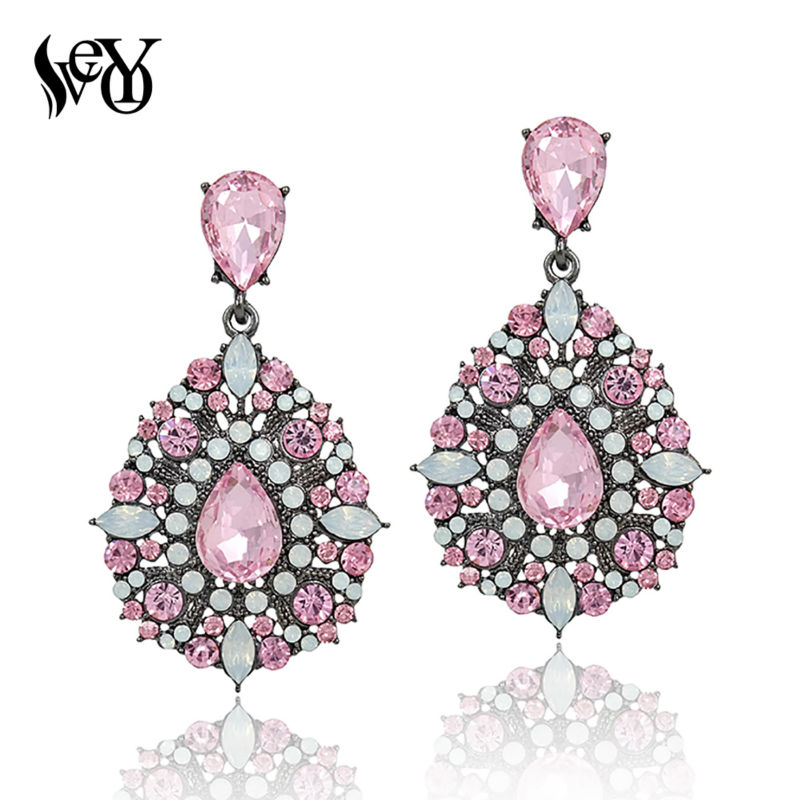 VEYO Full Of Rhinestone Krystal Drop Earring Luksus Øreringe Vintage High Quality Smykker