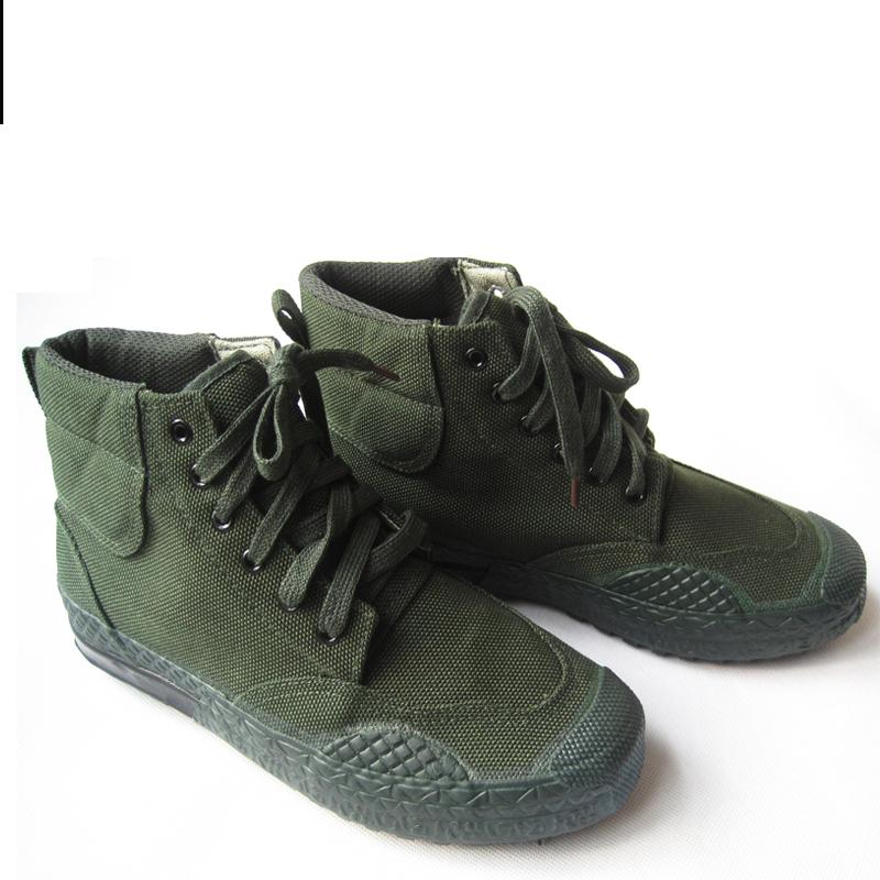 2017 New Medium b m Canvas green asker rubber cross country boots Breathable Army boots combat
