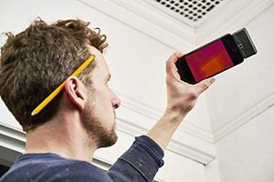 Image 3 - FLIR ONE PRO LT Cámara de imagen térmica, dispositivo de visión nocturna con visión infrarroja, 80x60 píxeles, para iOS o tipo C