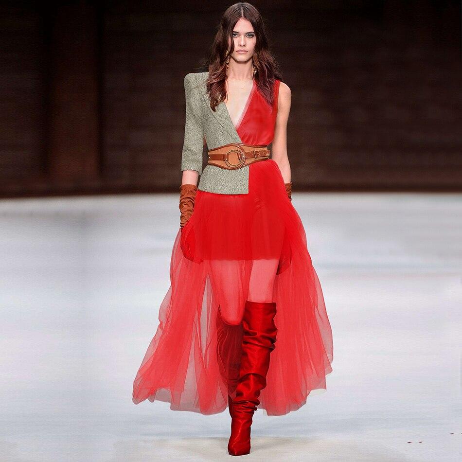 6b63a79e9f67 Dress Sexy Vestito Aderente Adyce Club Red Di Merletto Donne Spalla Una  Nuove Fuori Celebrità Scava Da Estate 2018 Maxi Del Partito Abiti nwqwFxHvTC