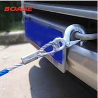 Outdoor Overstretches Steel Wire Plastic Trailer Rope 4 Meters Long Car Pulling Rope Pulling Rope