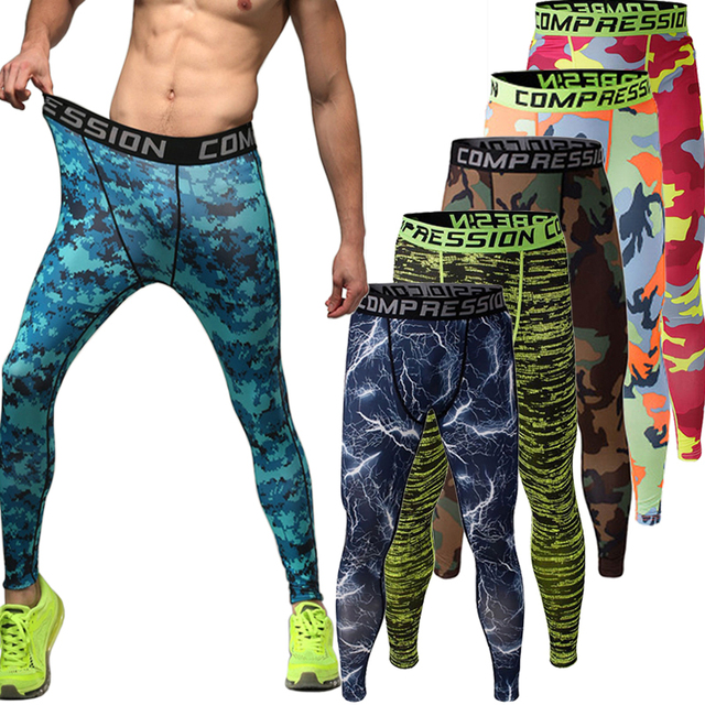cdb29a65657 Mens Compression Pants Camo Sports Running Tights Basketball Gym Pants  Bodybuilding Jogger Jogging Skinny Leggings Trousers