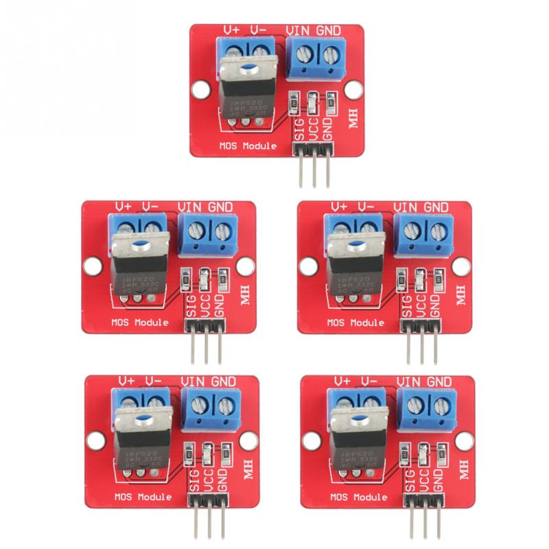 5Pcsset 3.3V5V IRF520 MOSFET Driver Modules PWM Output Driving Boards Output 0-24V