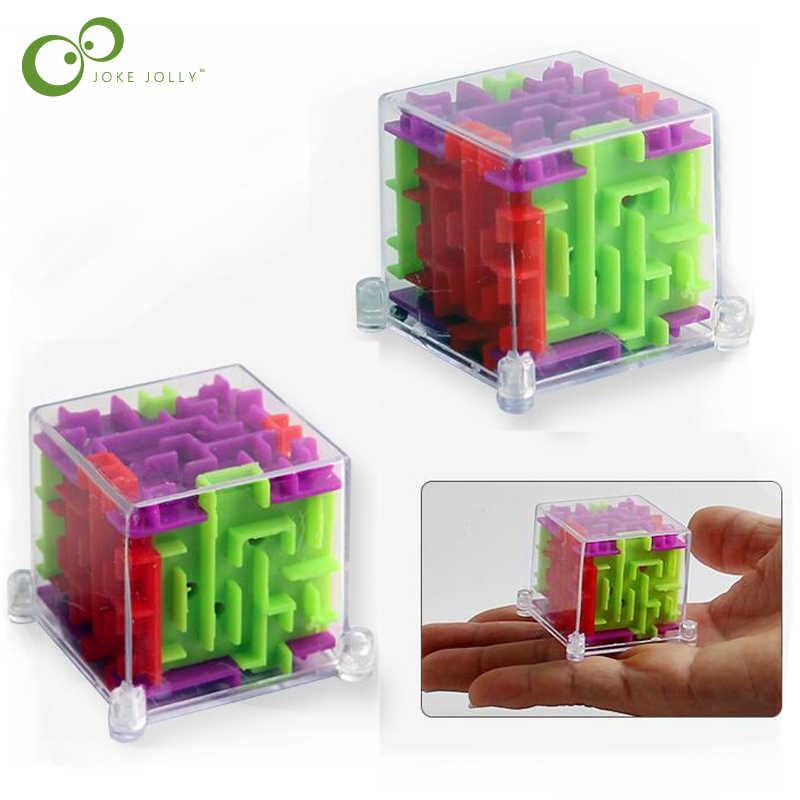 2018 New 2Pcs/lot Mini 3D Maze Magic  Puzzle Speed Puzzle Game Maze Ball Educational Toys Birthday Gift for Kids  GYH