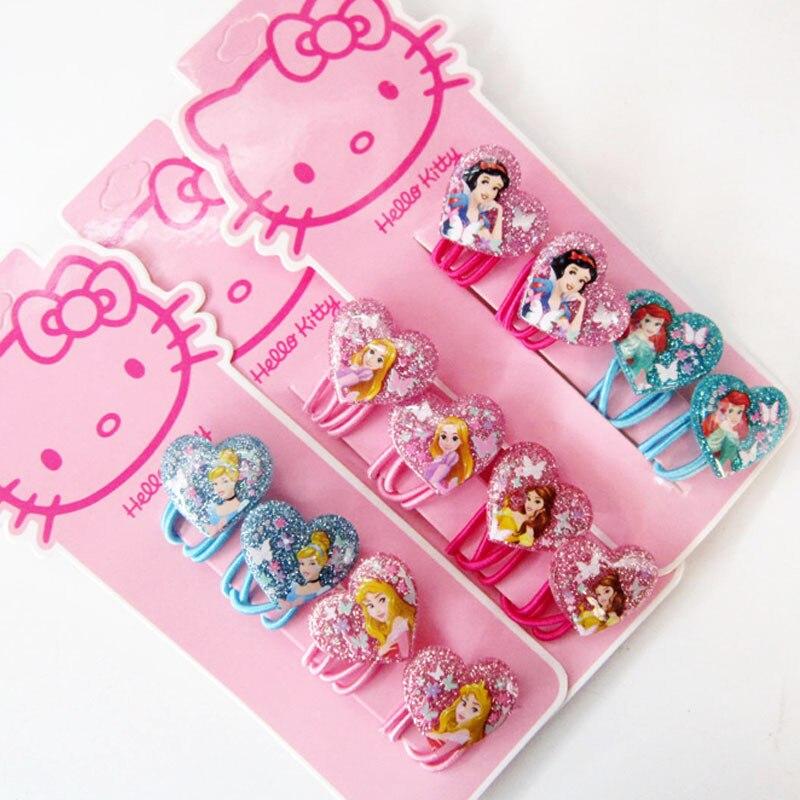 Fashion Children   Headwear   Elegant Lovely Seven Princess Clips Gum Elastic Bands Hair Accessories Barrettes Scrunchies for Baby