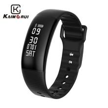 Kaimorui Smart Wristband Men Pedometer Heart Rate Tracker Bluetooth 4.0 Smartband Sleep Fitness Tracker for Android IOS Phone цена