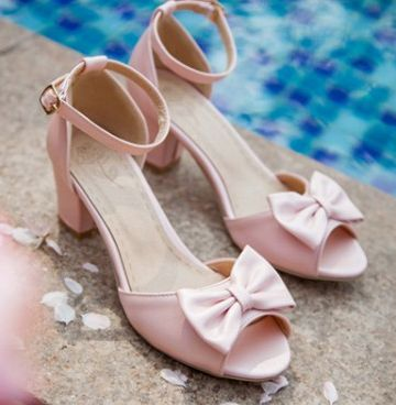 ФОТО Plus size summer sandals shoes woman white pink blue block thick heeled med high heels ladies party wedding sandals shoes TG902