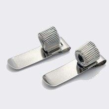 1PCS Single/Double/Triple Hole Metal Spring pen stabilo  With Pocket Clip Doctors Nurse Uniform Pen Holder metal