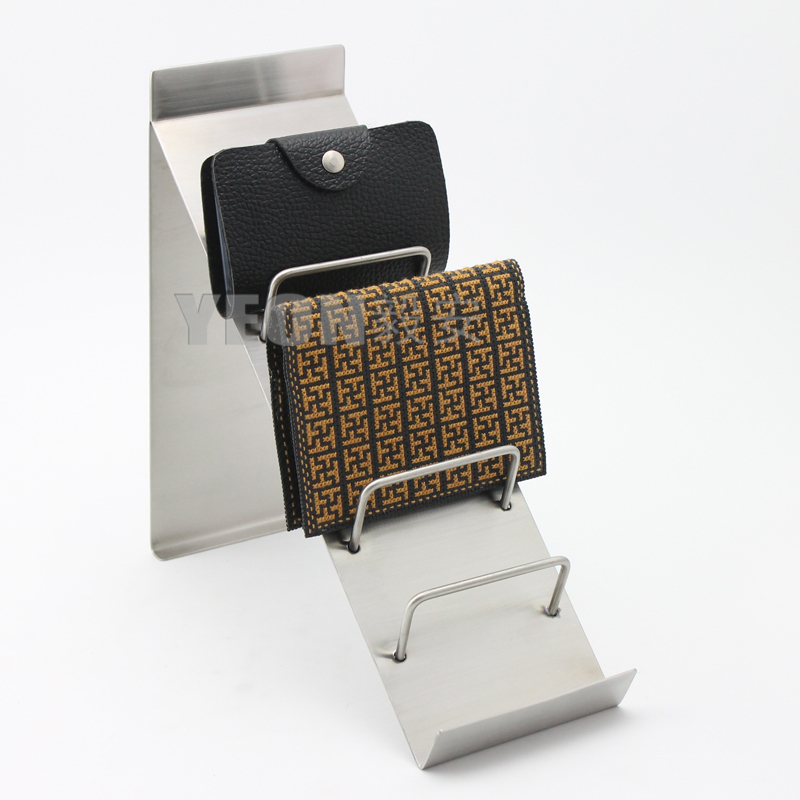 Yeon Metal Leather Wallet Display Stand Rack Purse Rack Wallet Rack