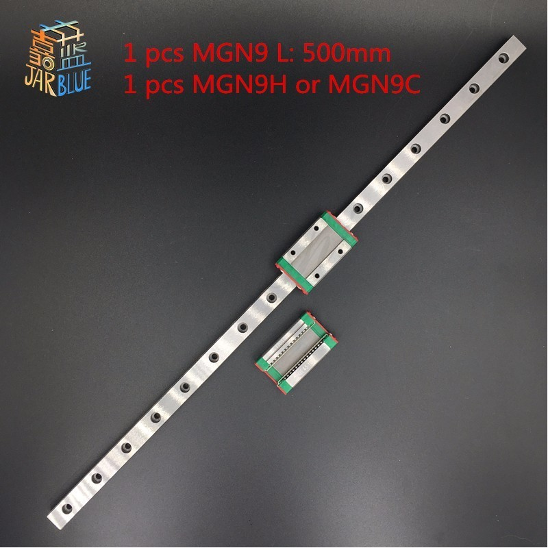 Promotion new 9mm linear guide MGN9 L= 500mm rail + MGN9H CNC block for 3D printer цена