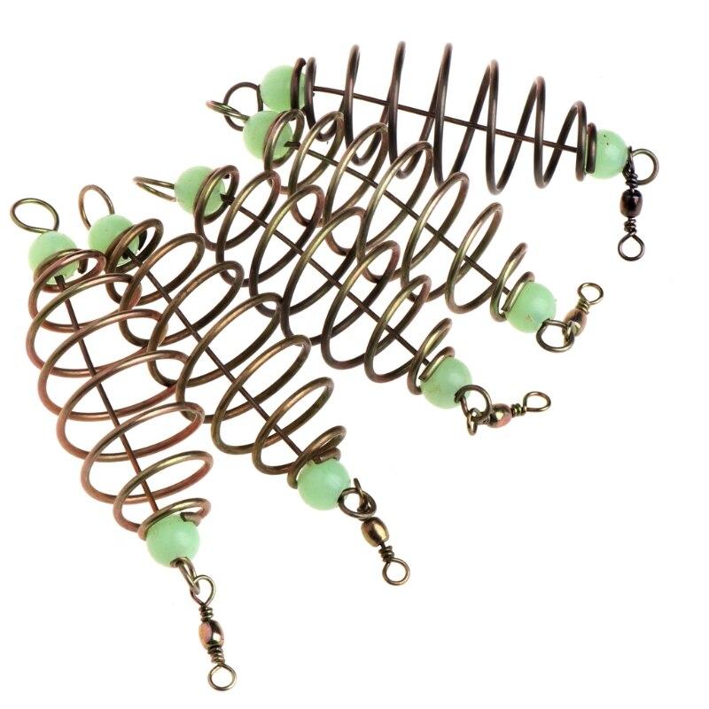 5 Pcs/Set Fishing Bait Spring Lure Inline Hanging Tackle Stainless Steel Feeder5 Pcs/Set Fishing Bait Spring Lure Inline Hanging Tackle Stainless Steel Feeder