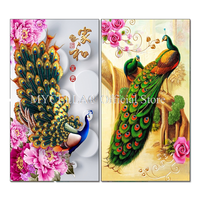 Flower Full Drill 5D Diamond Embroidery Painting Cross Stitch DIY Home Decor