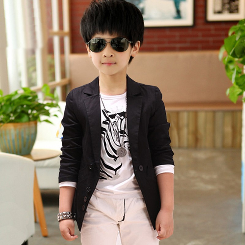 New Autumn Spring Fashion Casual Baby Boy Blazer Jacket Single Breasted Kids Blazers Jackets ...