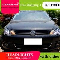 Auto Lighting Style Head Lamp for VW Jetta MK6 led headlights 2011 2014 Jetta headlight led drl H7 hid Bi Xenon Lens low beam
