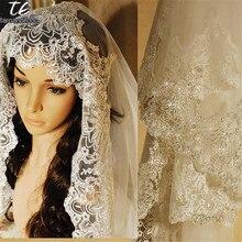 72e447d1f183 3 M In Pizzo Appliques Bordo Cattedrale Lunghezza Paillettes Velo da sposa  Lungo Velo Da Sposa Chic Lucido Velo Da Sposa Accesso.