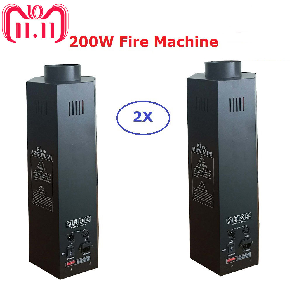 цена на 2Pcs/Lot Stage Dj Fire Machine Flame Machine Dj Disco Effect Equipments DMX Or Power Switch Direct Control 1-3 Meter Fire Height